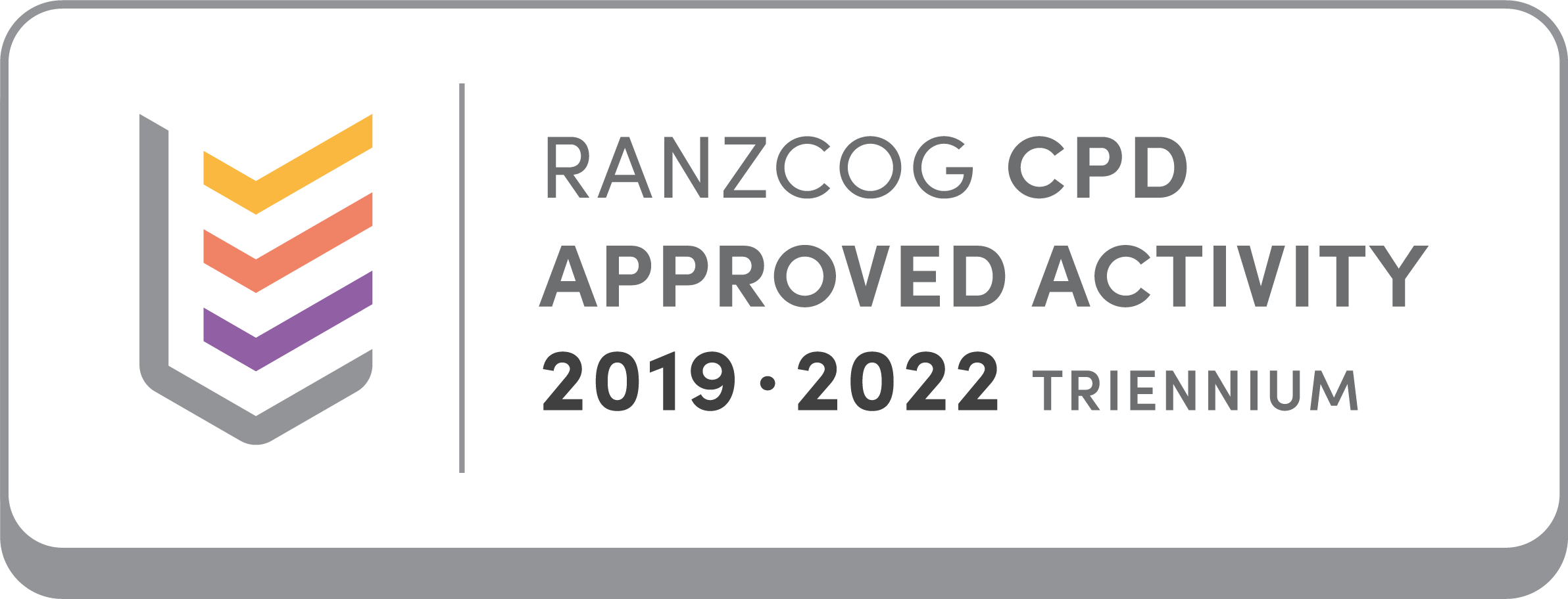 RANZCOG approved activity 2019-2022 triennium